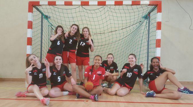 Résultats 1/2 finale départementale UNSS handball Minimes filles
