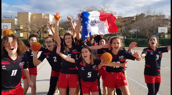 La vidéo des Handballeurs de L'UNSS pour soutenir l'Euro de Handball Feminin